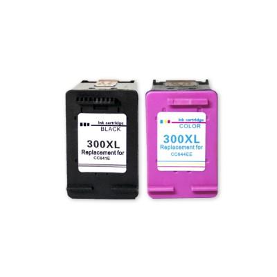 HP300XL Fekete+Színes 2db-os Patroncsomag ECOPIXEL