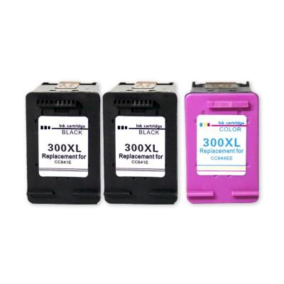 HP300XL Fekete+Színes 3db-os Patroncsomag ECOPIXEL